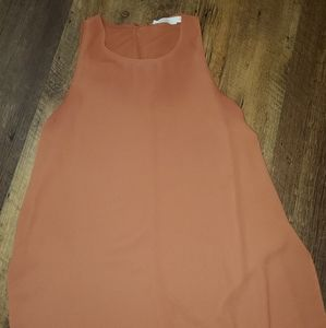 LUSH rust colored sleeveless top XS